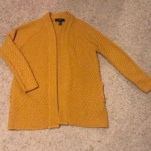 Mustered yellow cardigan